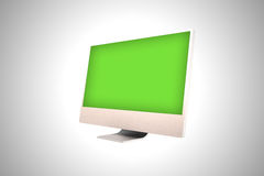 Computer screen. A white computer screen on gray background Royalty Free Stock Photo