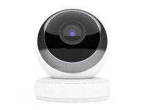 White Computer Spherical Web Camera. 3d Rendering Royalty Free Stock Image