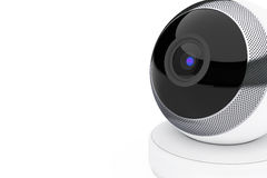 White Computer Spherical Web Camera. 3d Rendering Royalty Free Stock Photography