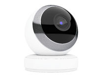 White Computer Spherical Web Camera. 3d Rendering Stock Photo