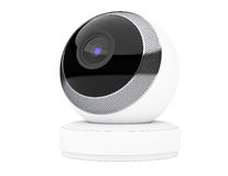 White Computer Spherical Web Camera. 3d Rendering Stock Photos