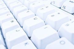 White Compuuter Keyboard. A white keyboard with letters and numbers Royalty Free Stock Image