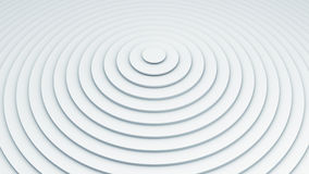 White concentric circles abstract 3D render Stock Image