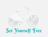 White concept bicycle Royalty Free Stock Photos