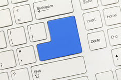 White conceptual keyboard - Blank blue key Royalty Free Stock Image