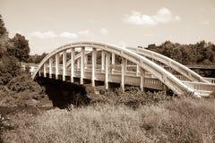White concrete arch Bush Creek Bridge, Kansas, also known as Rai Stock Photography
