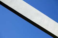 Concrete Beam & Clear Blue Sky Royalty Free Stock Photos