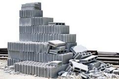 White concrete block. With white background Royalty Free Stock Photo