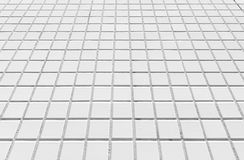 White concrete block floor background Royalty Free Stock Images