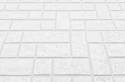white concrete block floor background and texture Stock Photography