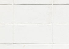 The White Concrete Block Wall Royalty Free Stock Photography