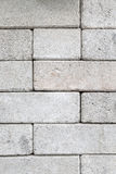 White concrete block wall background Stock Photography