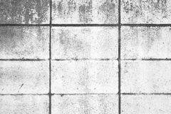 White concrete block wall Royalty Free Stock Image