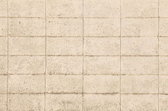 White concrete block wall Stock Image