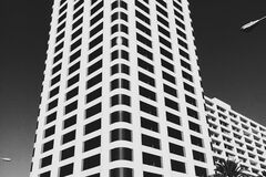 White Concrete Building Photo Royalty Free Stock Photography