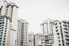 White Concrete Buildings Stock Photography