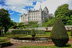 White Concrete Castle Surrounded by Green Plants Royalty Free Stock Images
