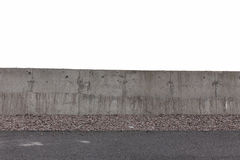 White concrete fence Royalty Free Stock Photography