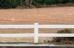 White concrete fence Stock Images