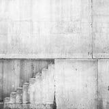 White concrete interior with stairway Stock Image