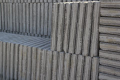 White Concrete Paving Stone Stock Image