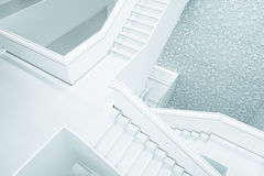 White Concrete Stair Ways in Building Royalty Free Stock Images