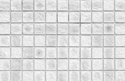 White concrete tile wall background and texture Stock Images