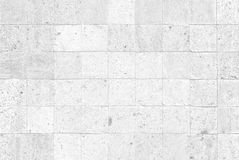 White concrete tile wall Royalty Free Stock Photography