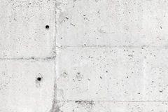 White concrete wall with details, background texture Royalty Free Stock Image
