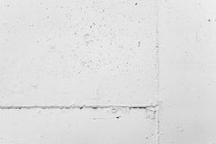 White concrete wall  with plaster, background texture Stock Photo
