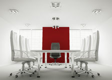 White conference room 3d vector illustration
