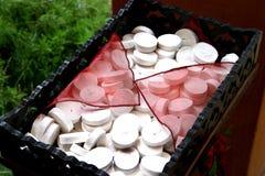 White confetti. White wedding paper confetti Royalty Free Stock Image