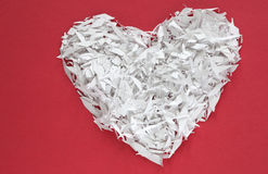 An white confetti heart Royalty Free Stock Image