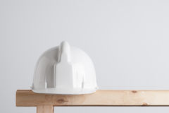 White construction helmet Stock Photo