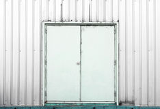 White container doors background texture Stock Image