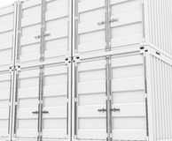 The white containers Royalty Free Stock Image
