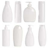 White containers and bottles Stock Images