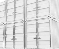 The white containers Stock Photo