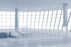 White contemporary business center hall Stock Photography