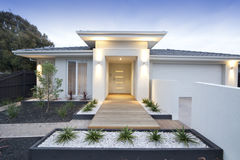 White contemporary house exterior Stock Photos