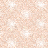 White Contour Flower Pattern on Pink Background Stock Image