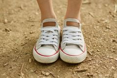 White converse Stock Photography
