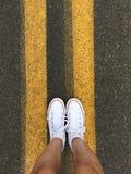 White converse Stock Image