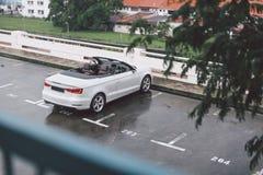 White convertible Stock Image