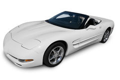White Corvette Convertible Royalty Free Stock Image
