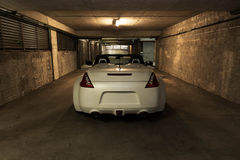 White Convertible sports car stock image
