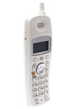 White Cordless Phone. Angled Royalty Free Stock Photography