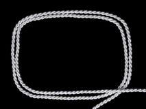 White cordon frame on black background Royalty Free Stock Images