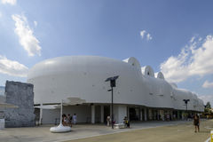 White Corea Republic Pavilion, EXPO 2015 Milan Royalty Free Stock Photo