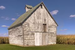 White Corn Crib Stock Photo